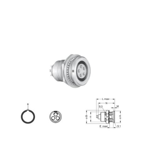 3Pin panel mount solder