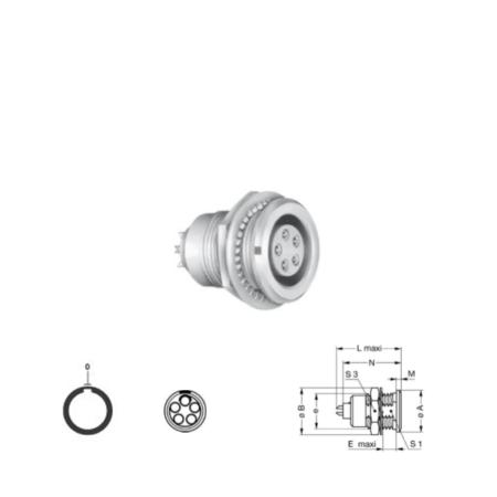 5Pin panel mount solder