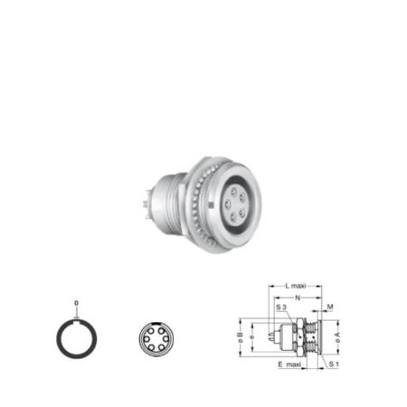 6Pin panel mount solder