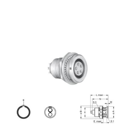 2Pin panel mount solder