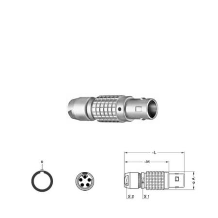 5Pin Inline solder plug, 0B,