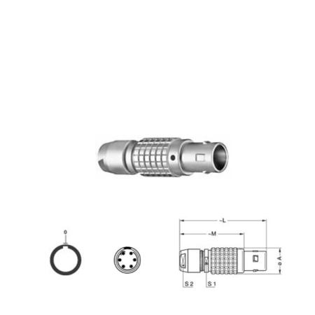 6Pin Inline solder plug, 0B,