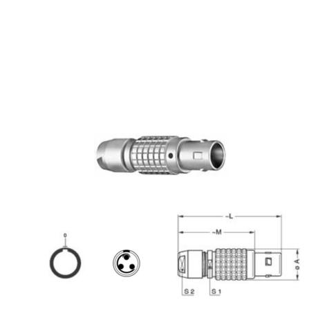 3Pin Inline solder plug, 1B,