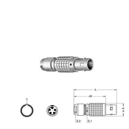 5Pin Inline solder plug, 1B,