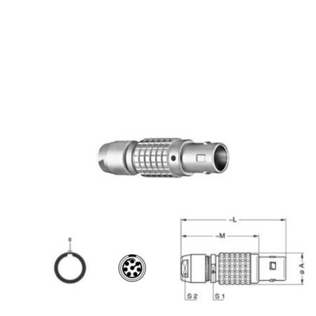 8Pin Inline solder plug, 1B,