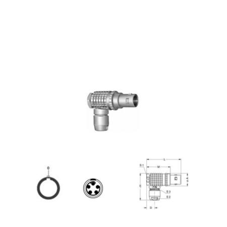 5Pin RA solder plug, 1B
