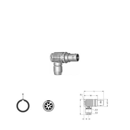 8Pin RA solder plug, 1B
