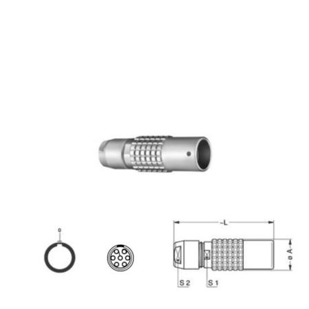 7Pin Inline solder socket, 0B,