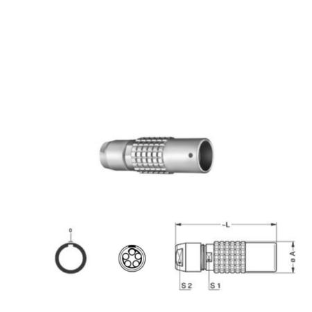 5Pin Inline solder socket, 1B,