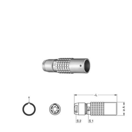 6Pin Inline solder socket, 1B,