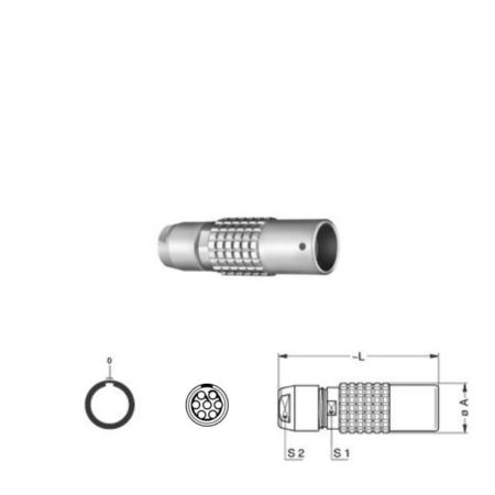 7Pin Inline solder socket, 1B,