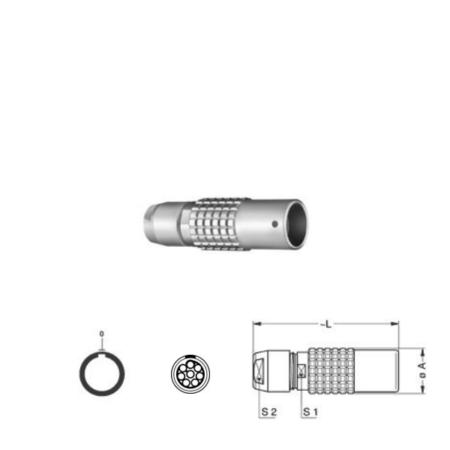 8Pin Inline solder socket, 1B,