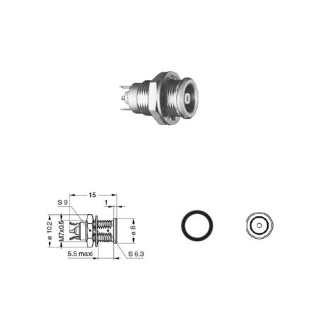 Panel mount coaxial solder