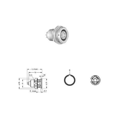 4Pin Panel mount solder