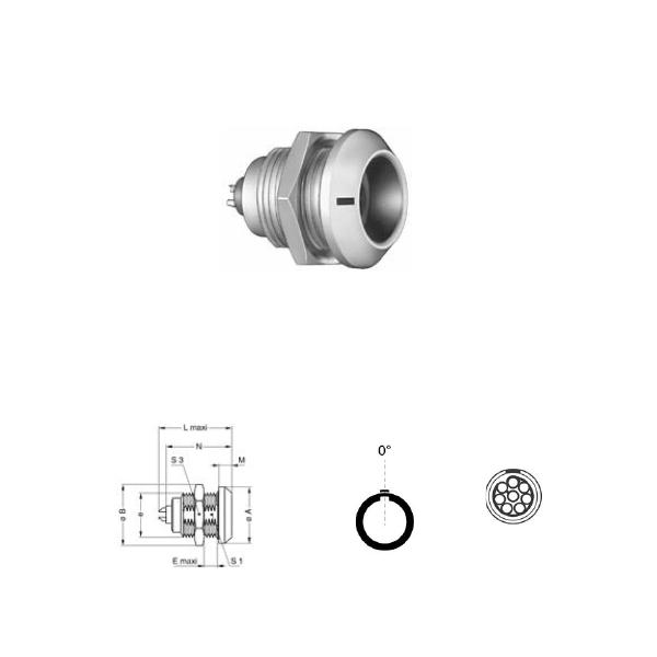 8Pin panel mount solder