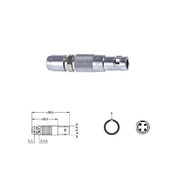4Pin Inline solder plug, 00,